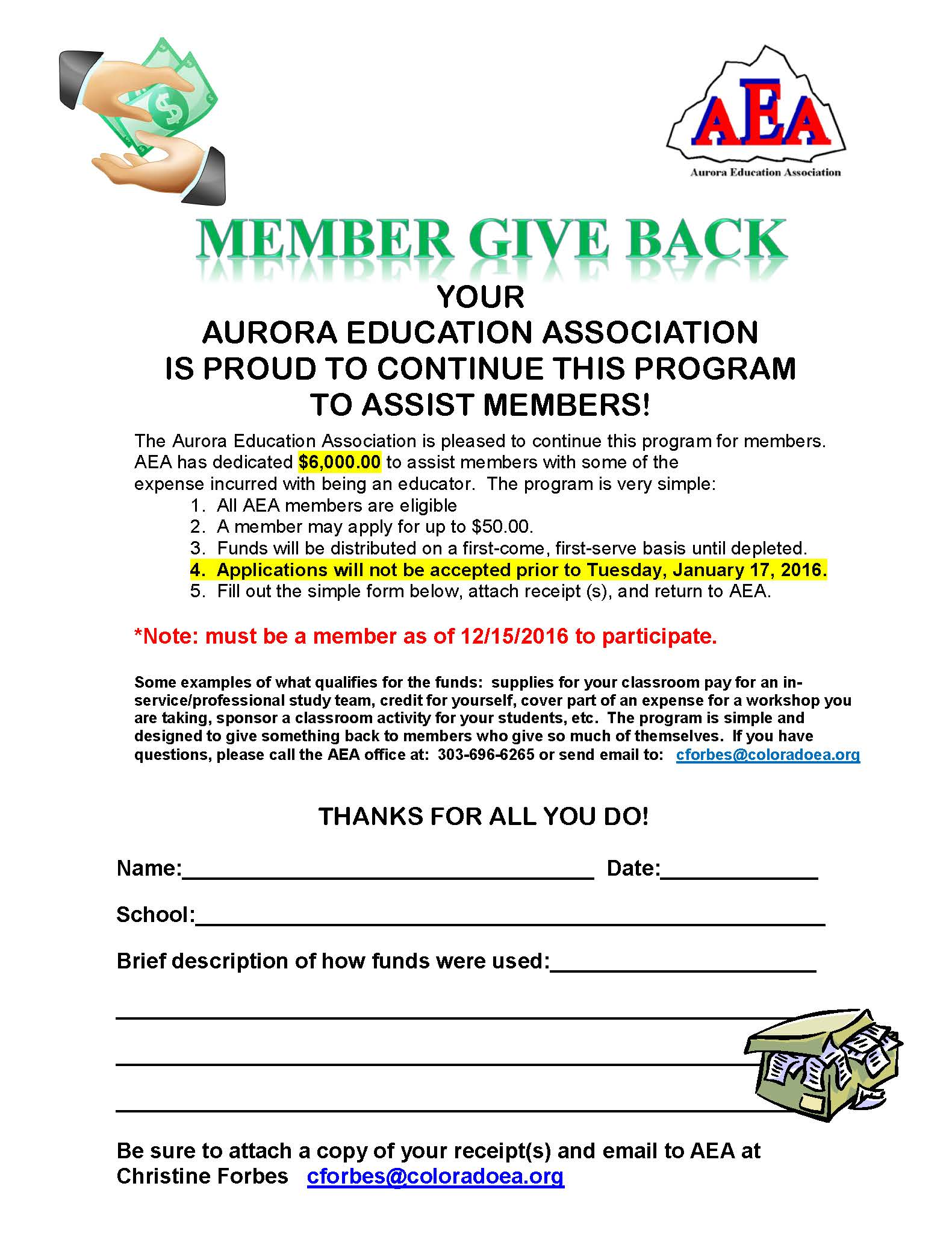 Member Give Back
