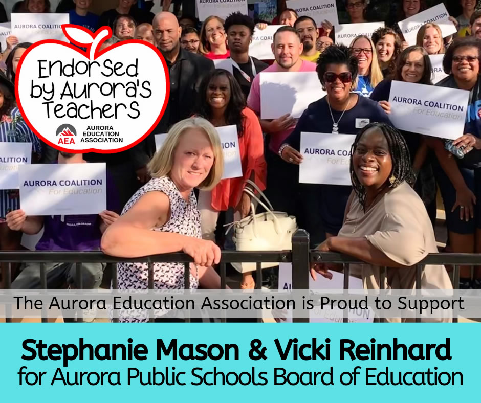 stephanie mad vicki reinhard for aurora public schools board of education